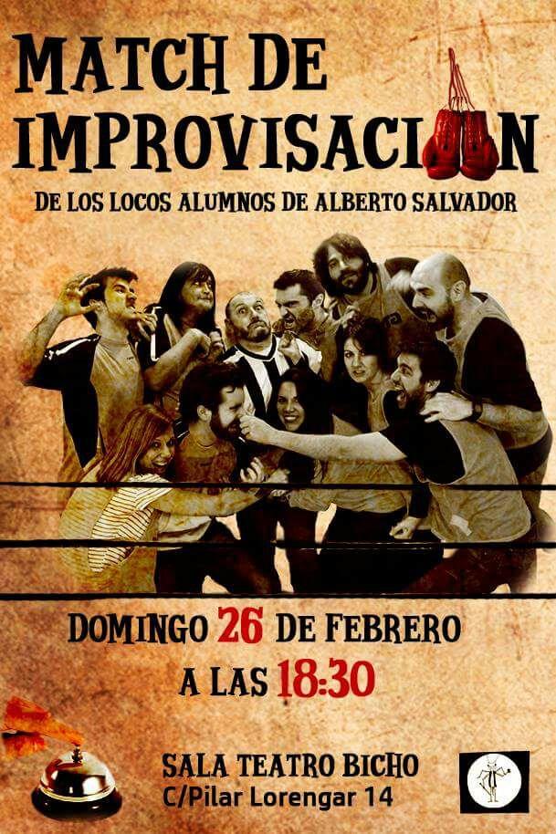 Match de improvisación, muestra de alumnos Alberto Salvador