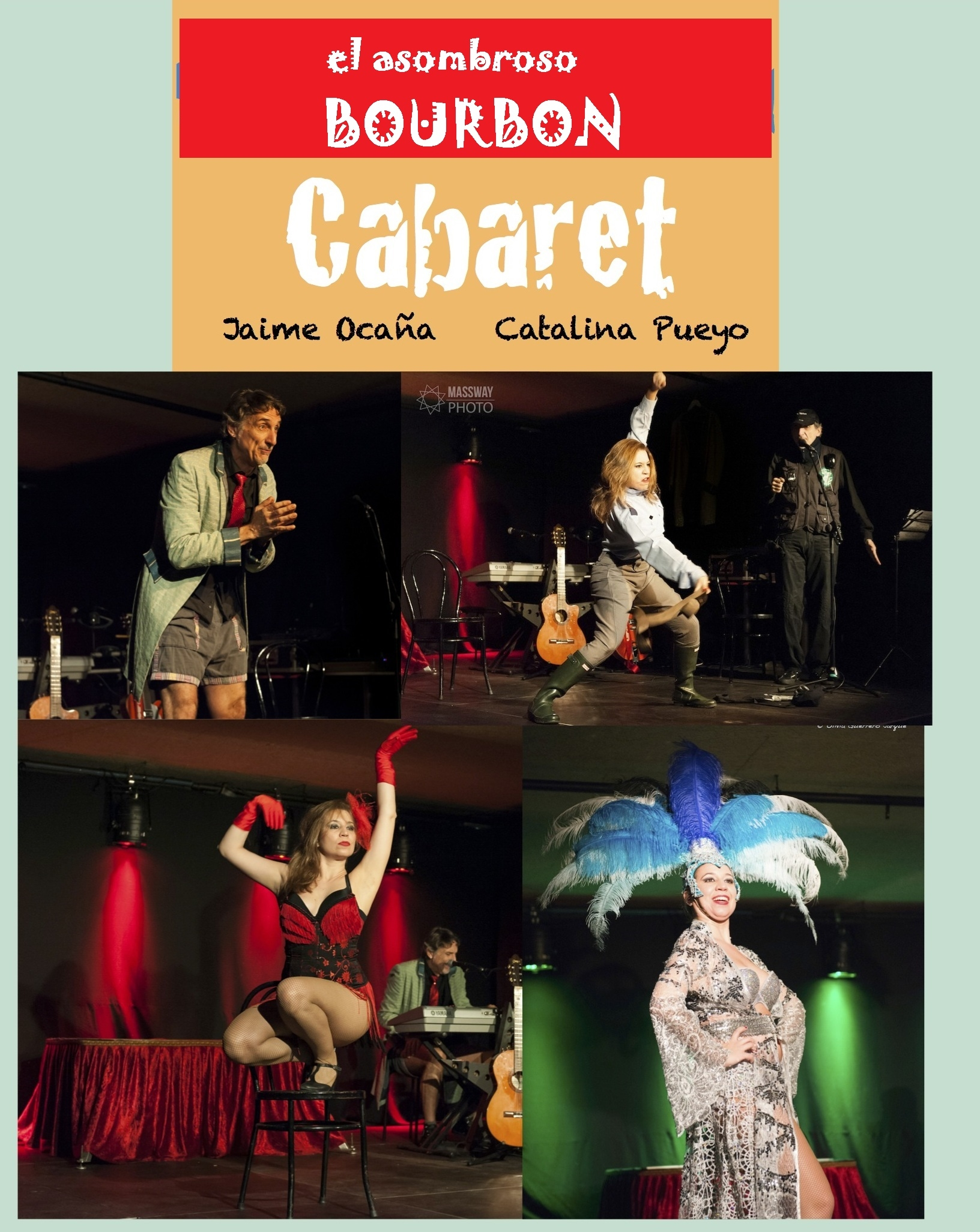 """""""El asombroso bourbon cabaret"""" Jaime Ocaña y Catalina Pueyo"""