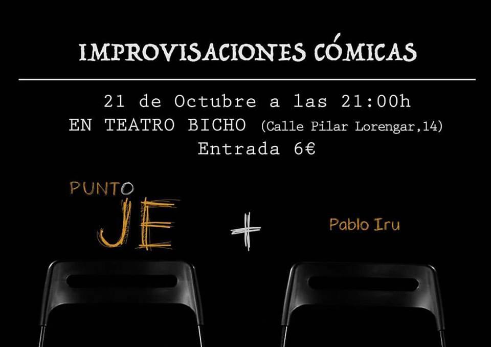 Punto JE+Pablo Iru improvisaciones cómicas